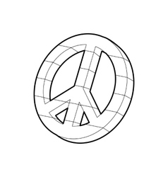 Pacific symbol icon outline style vector