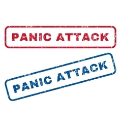 Panic Attack Rubber Stamps vector