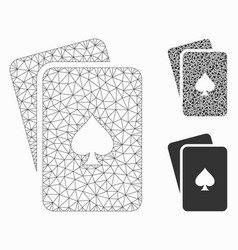 peaks playing cards mesh carcass model and vector image