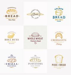 premium quality bakery signs or logo vector image