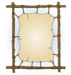 primitive sticks and canvas frame vector image