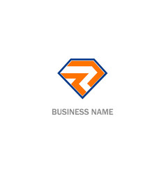 r initial logo vector image