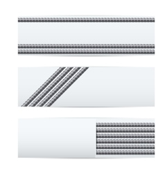 Rebars pattern industrial banners vector