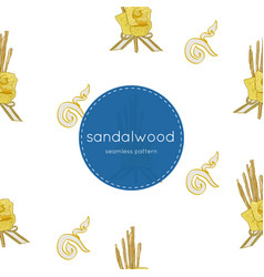 sandalwood flower for king seamless pattern vector image