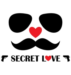 Secret love vector