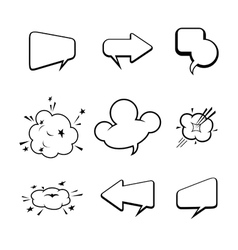 set of many comic style speech bubbles vector image