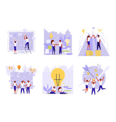 set of planning development of ideas concept vector image
