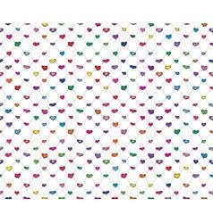 Sketch hearts net vector