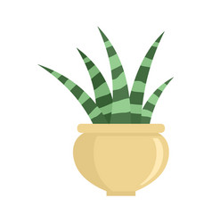 Striped succulent icon flat style vector