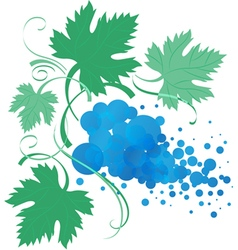 stylized vine branch with leaves vector image
