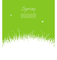 Summer background with grass vector image