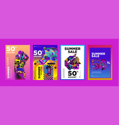 Summer sale 50 discount poster design template vector