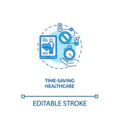 Time saving healthcare concept icon vector