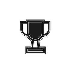 trophy cup icon - gold prize isolated award vector image