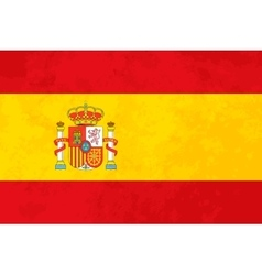 True proportions Spain flag with texture vector