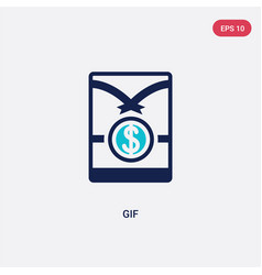 Two color gif icon from crowdfunding concept vector