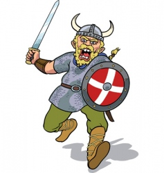 viking charging vector image