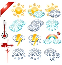 Weather icons small vector