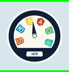 Web dev speedometer vector