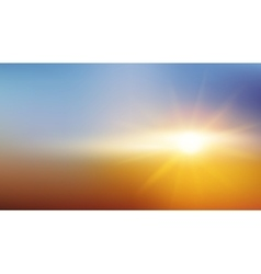 Abstract Background - Blurred Image - Sunset vector image