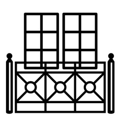 double balcony icon simple style vector image vector image