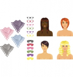 female accessories vector image vector image