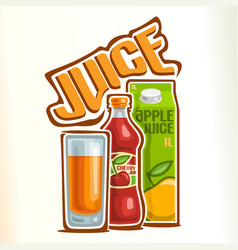 Logo for juice vector