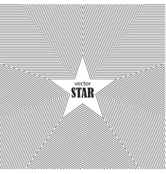 star striped abstract background popularity vector image vector image
