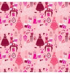 happy birthday princess seamless 380 vector image vector image