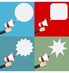 megaphone and speech bubbles vector image