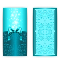 royal invitation card with bow vector image
