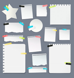 Set of paper scraps and clean sheets vector