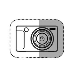 silhouette technologic digital camera icon vector image vector image