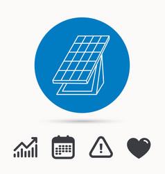 solar collector icon sunlight energy battery vector image