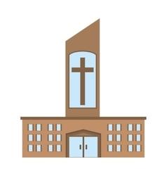 catholic church building icon design vector image