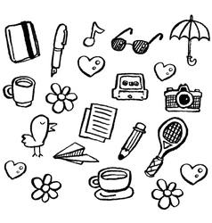 doodle series - random1 vector image vector image