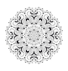 Monochrome lace pattern background vector image vector image