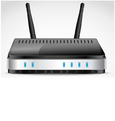 Realistic Wi-Fi Router vector image