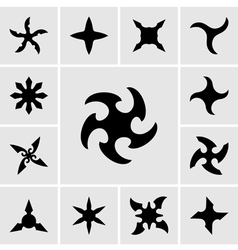 Shurikens vector image