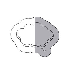figure cloud chat bubble icon vector image