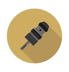 flat icon Keyless Chuck drill vector image vector image