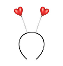 Headband with hearts in red design vector