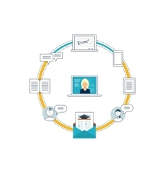 Online education training courses university vector image