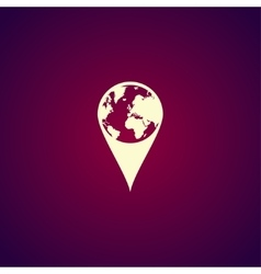 Pictograph of globe Map pointer vector image vector image