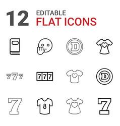 12 typography icons vector