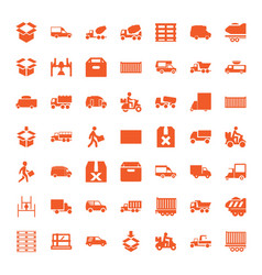 49 deliver icons vector image