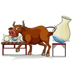 A bull in a China shop vector image