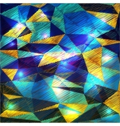 Abstract disco glowing polygonal background vector