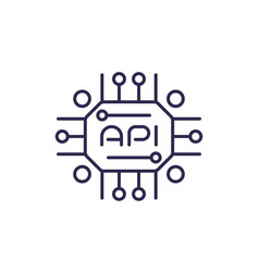 Api icon for web line design vector