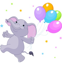 Baelephant with balloons vector